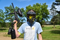 Paintball is serious business - and some of us are braver than others!