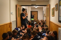 Singing worship songs from the bathroom was probably a new experience for some of the campers.