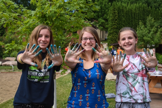The craft of the day was tie-dye!