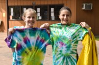 Campers got to pick up the tie-dye creations that they made on Monday!