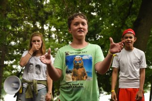 """During lunch line-up, campers showed off their """"stupid human tricks""""... which basically meant a lot of double-jointed stuff."""