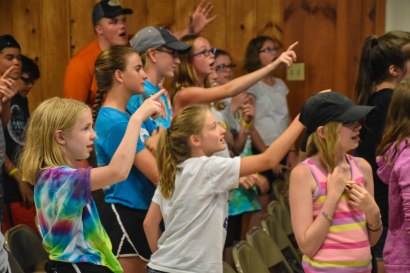 """It rained, so we HAD to sing """"Arky, Arky"""" in chapel!"""