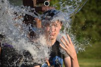 Weston got dunked at the carnival FOUR TIMES!