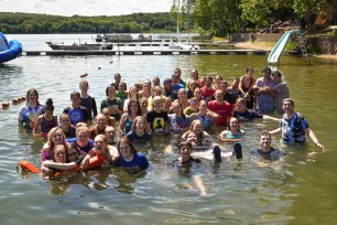 Look how many staff members we pushed in the lake after the Staff Hunt!