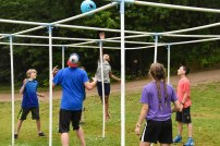 Nine Square In The Air is a new game at Camp this year.
