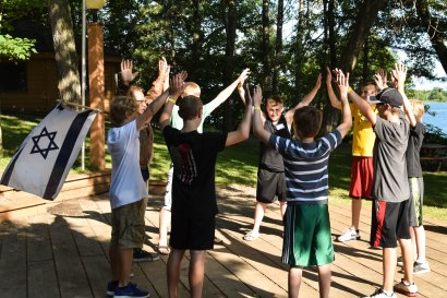 We performed our cabin cheers in front of the other cabins before dinner.