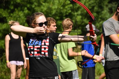 Campers flocked up to the archery range for the 4:30 option!