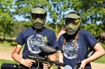It was a small session on the first day, but the campers at paintball had a lot of fun!