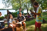 Outdoor jam sessions are a fun hallmark of Senior High week.