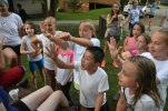"""What number am I thinking of?"" (To get out of jail during Capture the Flag, campers had to sing songs, answer questions and tell jokes to the jail guards.)"