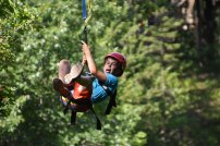 Yesterday was the first day of zip-line for the week!