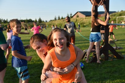 Almost all the campers who dunked staff members got a wet hug afterwards!