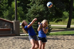 Practicing for the volleyball tournament?