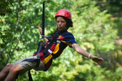 So many campers signed up for zip line this week!