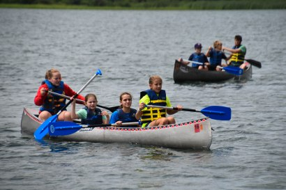 Canoeing was another skill we learned.