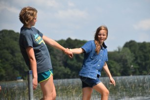 Rules are rules: if you're found during the counselor hunt, you get pushed in!