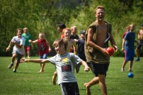 We had split game time before free time and the boys played Custer's Last Stand, a crazy staff vs. campers game!