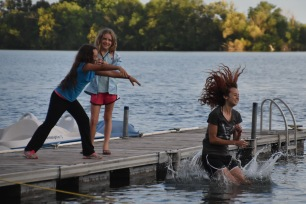 For ten tickets during the carnival, you could push a staff member in the lake!
