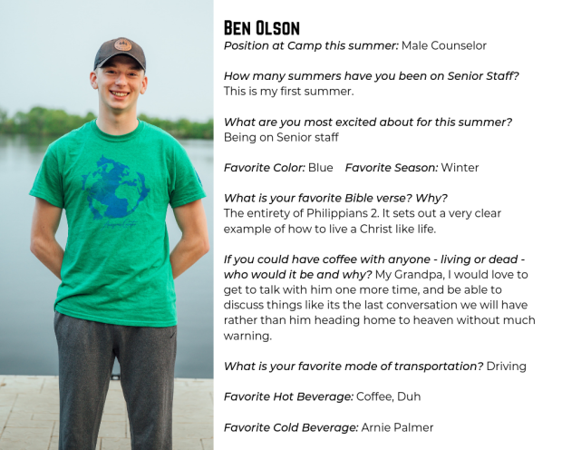 Meet the Summer Staff – Male Counseling Team – Camp Lebanon