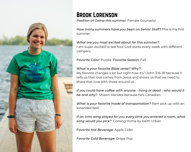 Summer Blog - Staff Bios (Female Counselors)